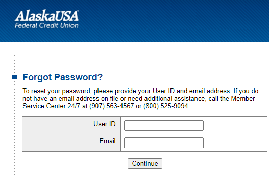 Step 3: Enter details for recovering password