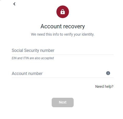 Step 3: Fill in the details for password
