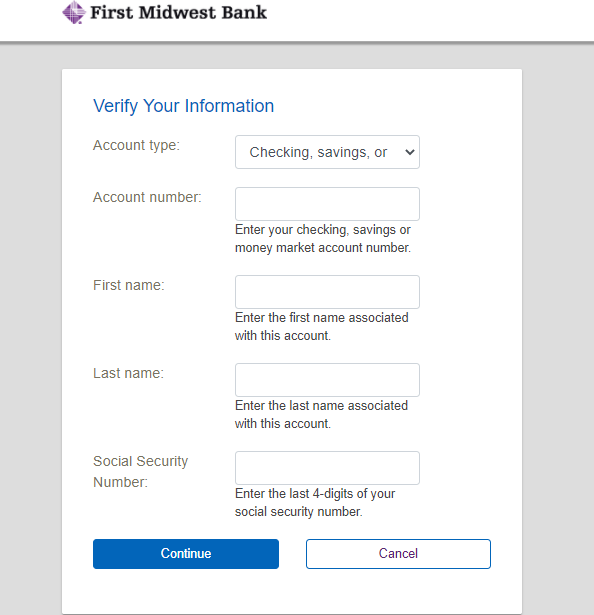 Step 2: Fill up details for user id