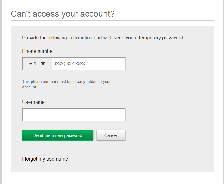 Great Western Bank Online Banking Forgot Password Page