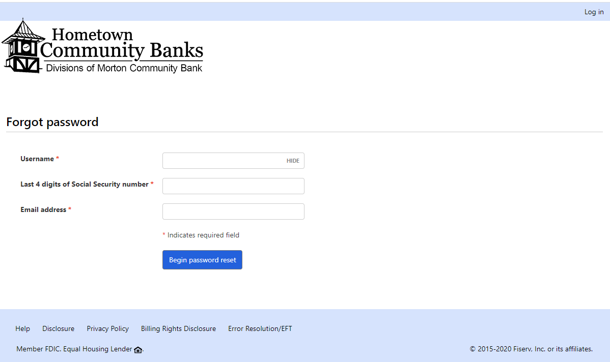 Step 3: Fill in details for password