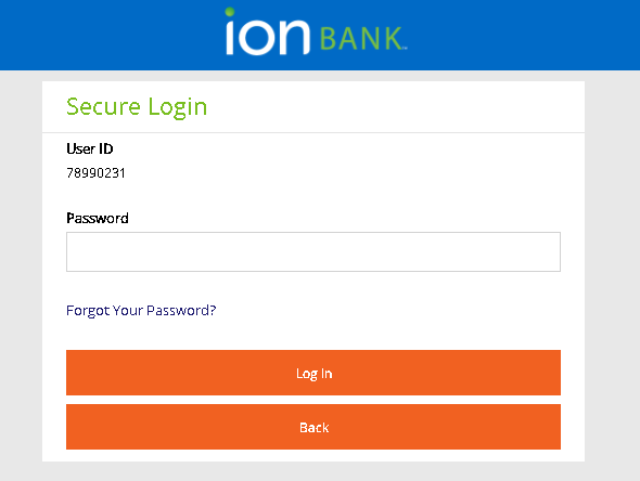 Ion Bank Online Banking Process