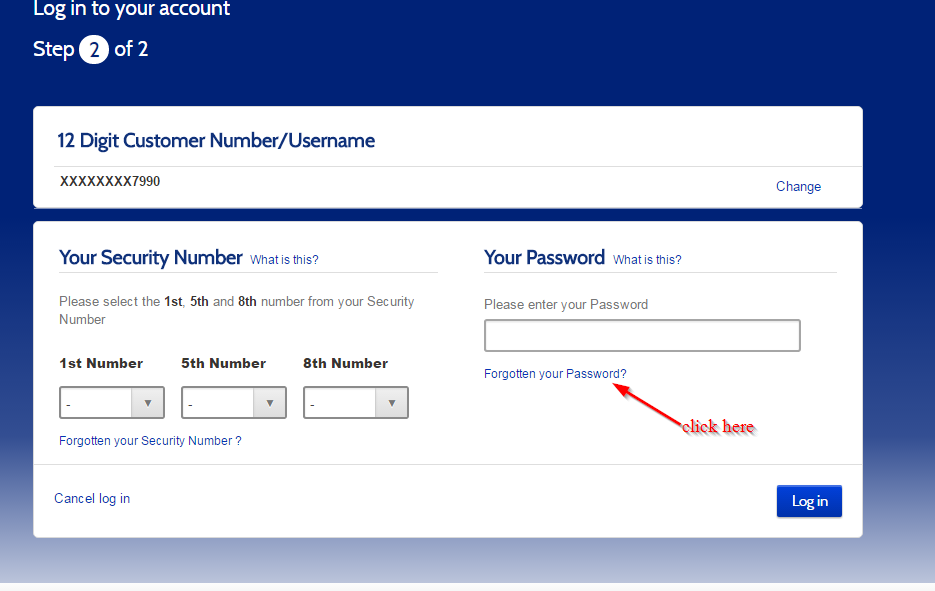 Metro Bank- Forgot Password