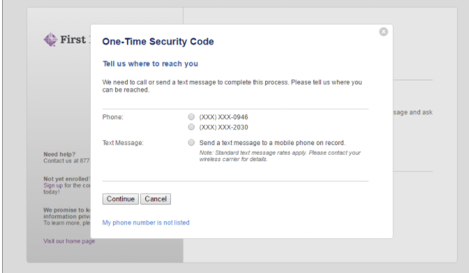 Step 3: One Time Security For Login