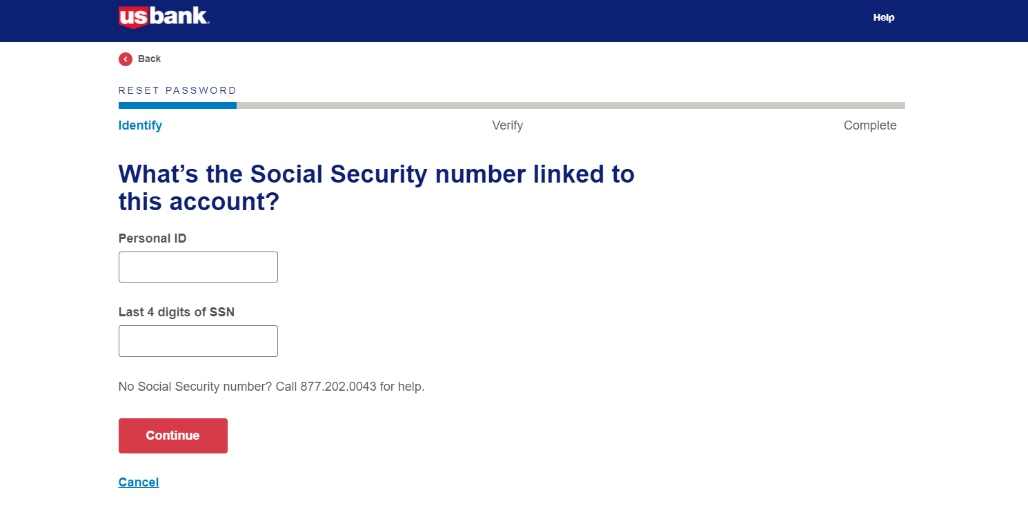Step 3: Fill in details for recovering your password