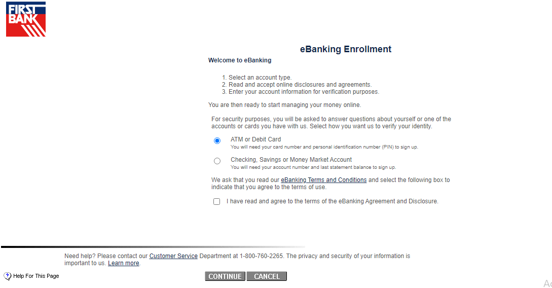 first bank enroll
