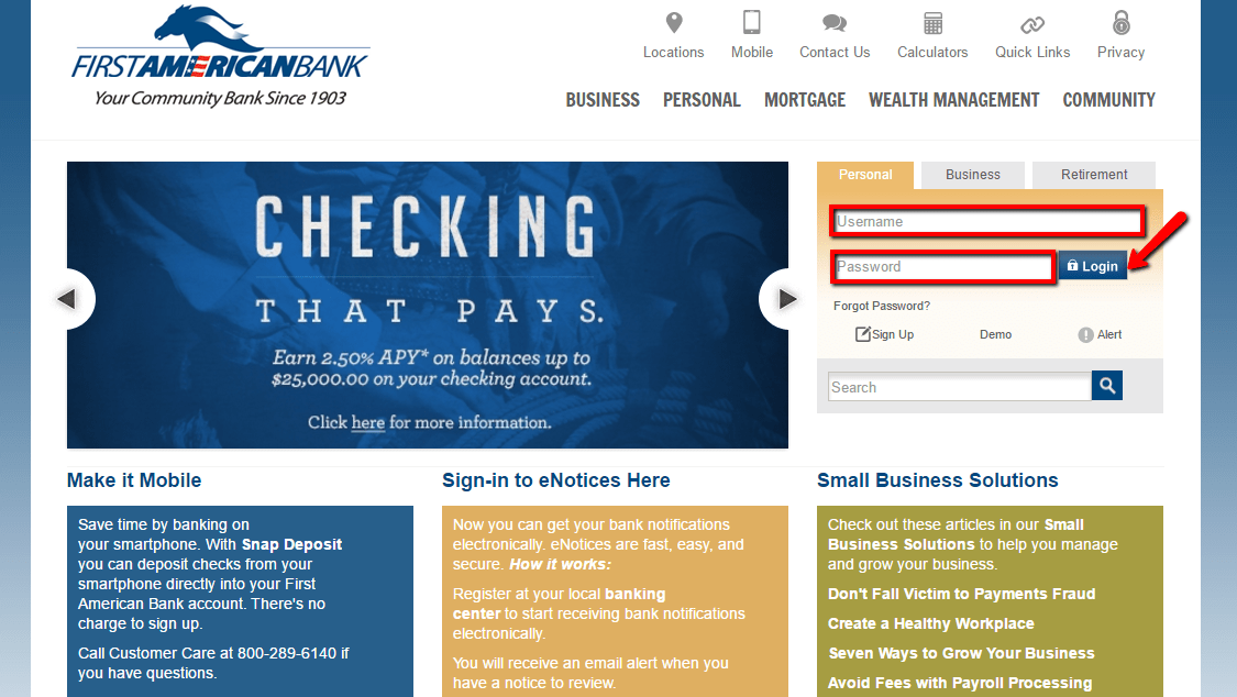 First American Bank Online Banking