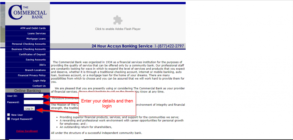 Commercial Bank Online Banking