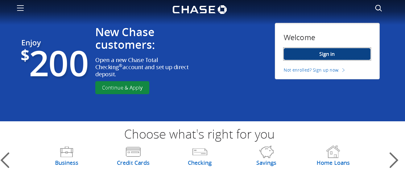 Chase Bank Online Banking