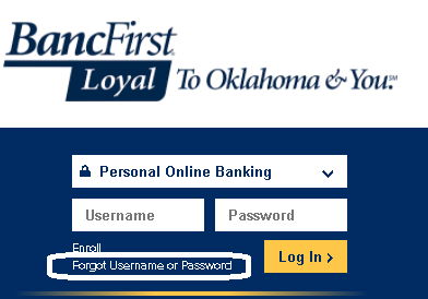 Forgot Password- BancFirst