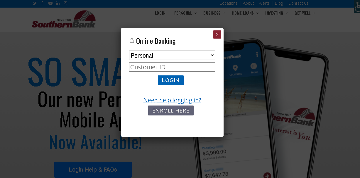 Southern Bank Online Banking