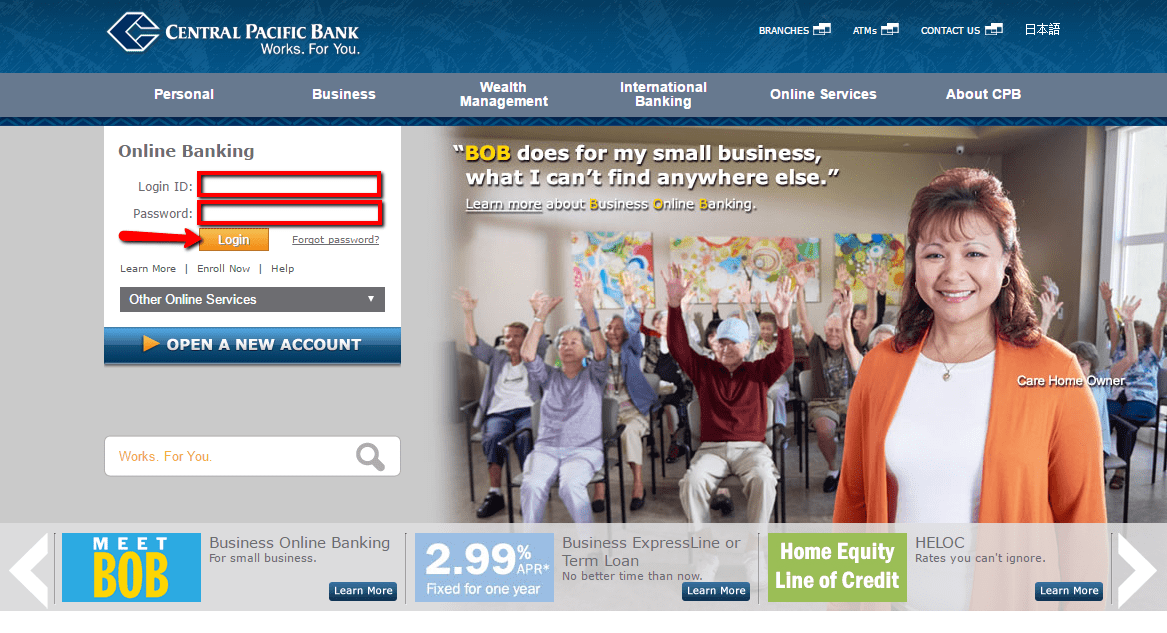 Central Pacific Bank Online Banking