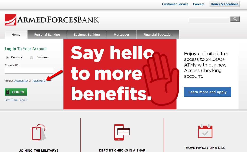 Armed Forces Bank Online Banking
