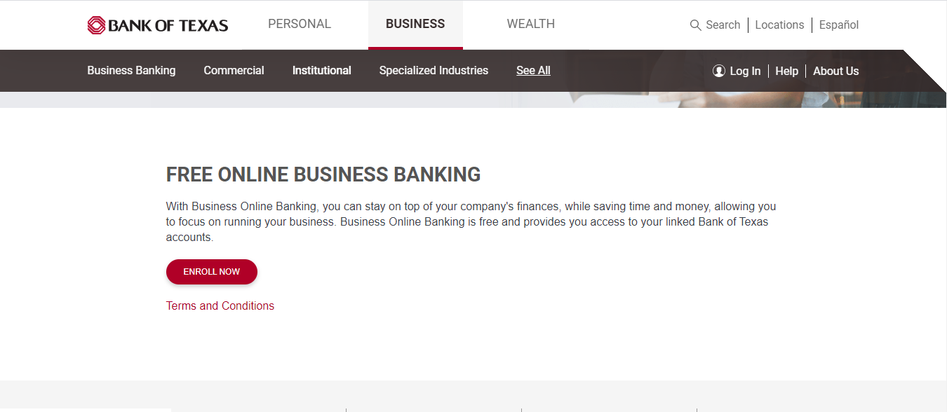 Bank Of Texas Online Banking Small Business Enrollment