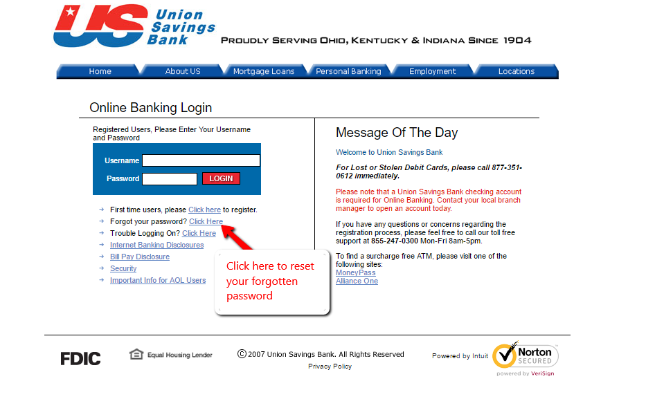 Union Savings Bank Online Banking